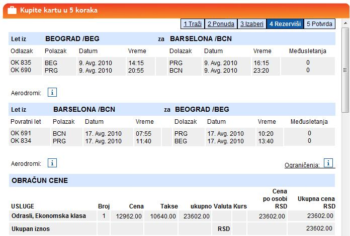 avionske karte Beograd   Barselona avionske karte