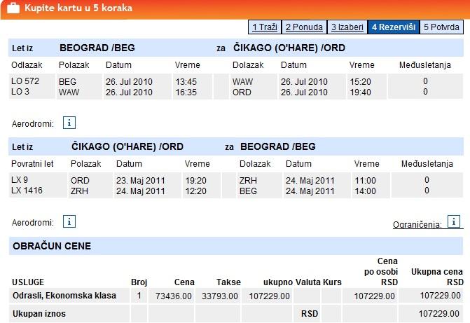 Povratna Avionska Karta Beograd Cikago Najpovoljnija Cena