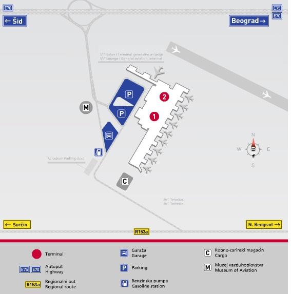 aerodrom nikola tesla mapa Aerodrom Nikola Tesla parking cenovnik aerodrom nikola tesla mapa